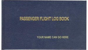 Passenger Flight Log Book - Personal Embossed Logbook