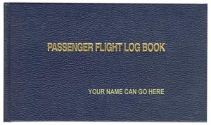 Passenger Flight Logbook is a hard covered logbook for tracing passenger flights.